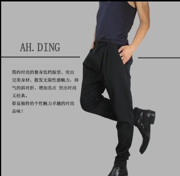 2017 Big yards mens trousers 27-44mens clothing male personality trousers boot cut jeans casual trousers breeched