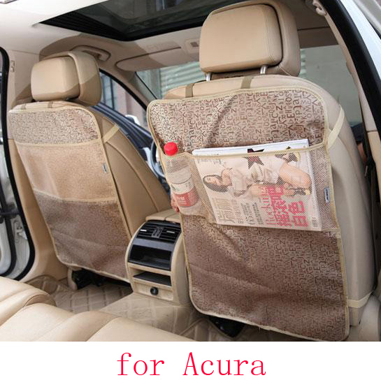 For Acura ILX TLX RL TL MDX RDX ZDX car seat covers baby Kick protector mats black waterproof car accessories interior