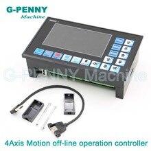 จัดส่งฟรี! CNC 3 แกน 4 แกน DDCSV2.1 off line controller 500KHz ปิดการ์ดควบคุมสำหรับ CNC Router แกะสลักเครื่อง
