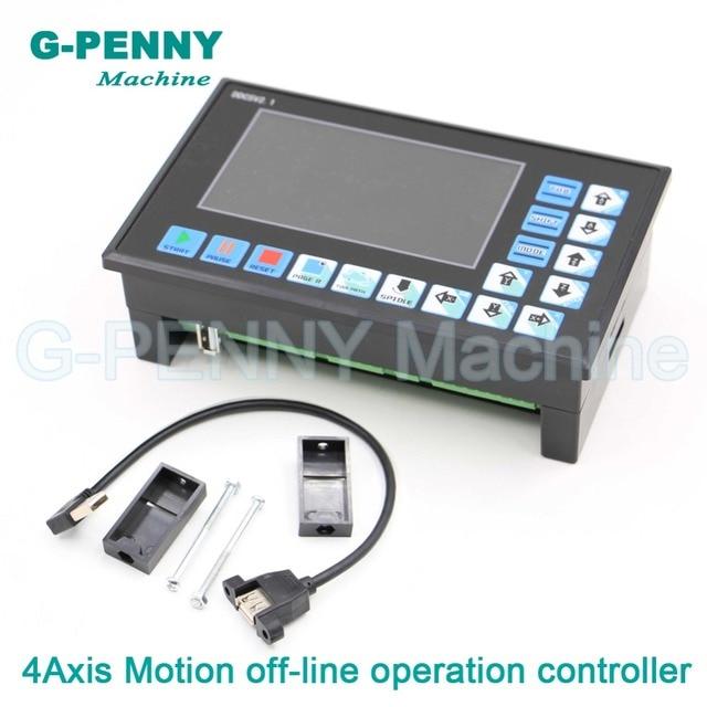 Ücretsiz kargo! CNC 3 eksen 4 eksenli DDCSV2.1 off line denetleyici 500KHz kapalı hat kontrol kartı CNC Router gravür makinesi