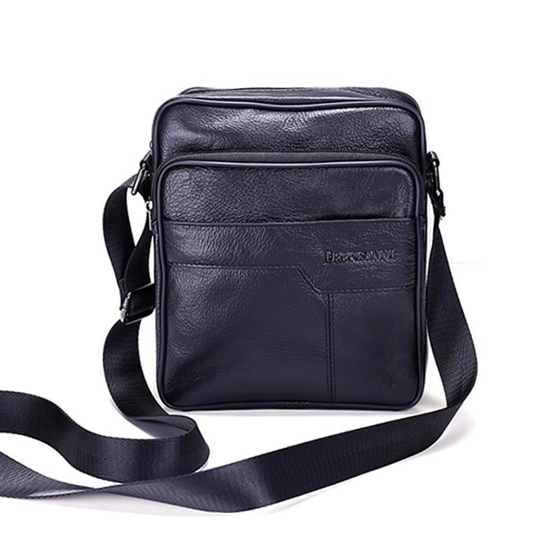 BBPPDD men bag genuine leather crossbody messenger bags men s shoulder men  bag flap zipper vintage coffee crossbody bag b96cbaa85605c