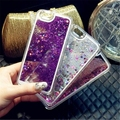 3D Glitter Bling Stars Hearts Clear Liquid Case Cover for iPhone 5 5S 5C 6 6S Plus Cell Phone Quicksand Case