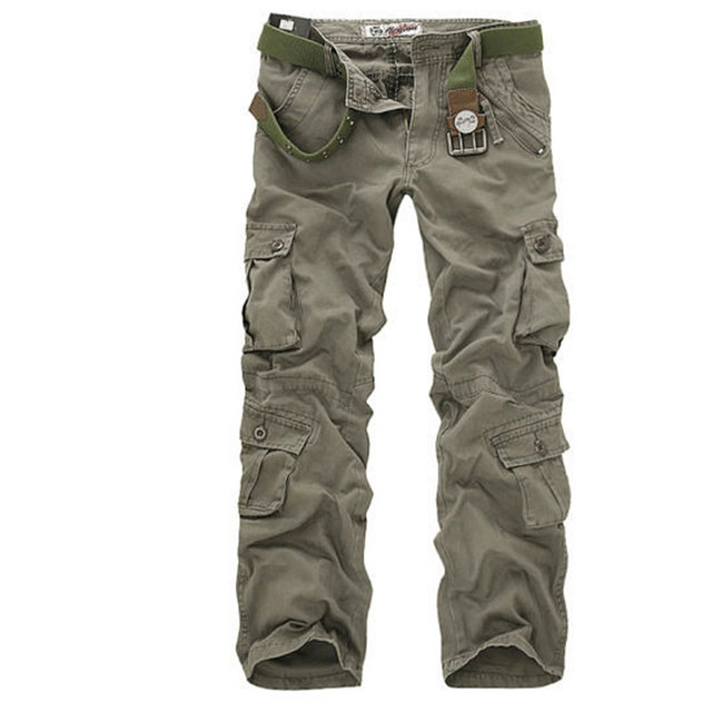 2017 Hot Selling brand 6 color fashion men army cargo pant camouflage pants for men size 28-38 NO.022 P65