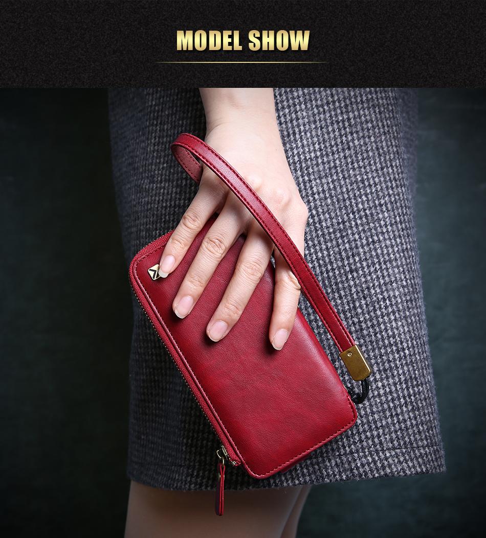 Floveme vintage wallet case dla iphone 6 6 s 7 plus skórzanej oprawie zipper torebka posiadacza karty retro przypadki telefonów dla iphone 6 6 s 7 11
