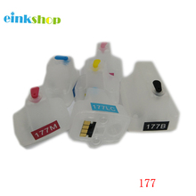 For HP 177 HP177 HP C7183 C7186 C7190 D6163 D7163 D7363 refillable ink cartridge hp c8773he 177 yellow ink cartridge