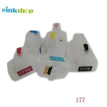 For HP 177 HP177 C7183 C7186 C7190 D6163 D7163 D7363 refillable ink cartridge