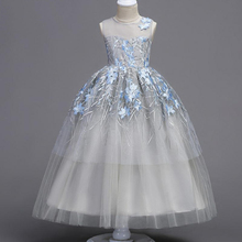 CAILENI Girl Dress For Teen Childrens Clothing Ceremony Events Girls Party Dresses Lace Teenage Wedding Gown Frocks