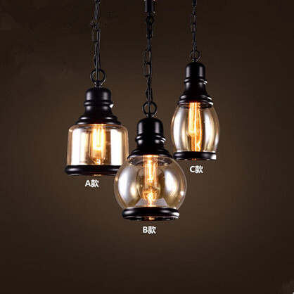American Country Retro Loft Style Vintage Pendant Lights Fixtures For Home Lightings Edison Hanging Lamp Lamparas Colgantes