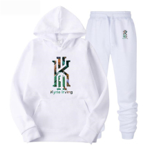 New Kyrie Irving Printed Hooded Hoodies Men Autumn Winter Cotton Long Sleeve Hip Hop Streetwear Clothing+pants