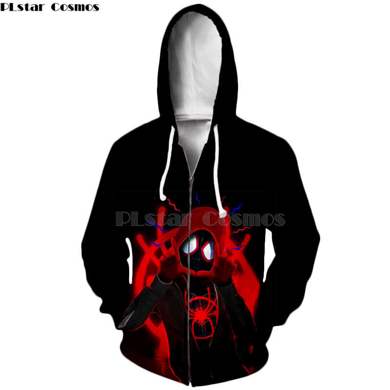 ff240c44 Detail Feedback Questions about Spider Man Into Spider Verse venom Spider  Man shirt/zip Hoodies Sweatshirt 3D Hoodies Long Sleeve Outwear Male Jacket  ...