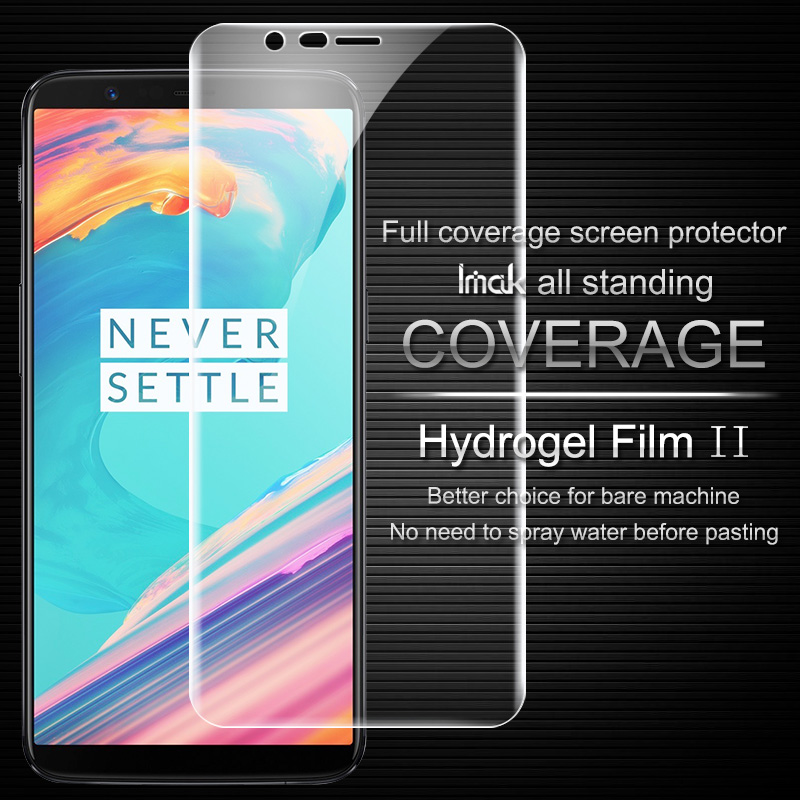 Imak Anti Glare Hydrogel 2th Generation Film for OnePlus5T 3D Full Cover Protector Screen Protector Film for OnePlus 5T