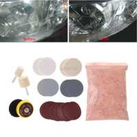 34pcs Deep Scratch Remove Glass Polishing Kit 8 OZ Cerium Oxide + Sanding Disc + Wool Polishing Pads+Felt Polishing Wheel July