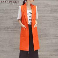 אפוד 2016 אפוד שרוולים ארוכים l2016 אישה מעיל מזדמן אופנה חדשה גבירותיי בגדי עבודה Plus גודל XXL AA1204X