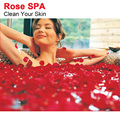 100% Natrual Rose Rose Bath Spa Dezenas Aliviar Estresse + Apreciando A Boa Sensação de Pele Limpa Ferramenta Spa Do Pé Massager Do Corpo C004