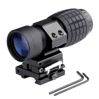 Hunting Airsoft Rifle Accessories Tactical 3X Magnifier Scope Sight With Flip To Side 20mm Rail Mount
