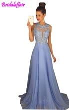 fashion Sexy O neck Prom Dresses 2019 Lace Sex Gowns vestido de festa longo graduation dresses Women Evening