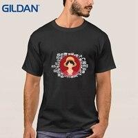 Hip T-Shirt Mens Classic Sorridendo Scimmia Del Fumetto Rufy di One Piece Bianco Tee Shirts No Fibbia Top di Vendita di Nuovo Stile