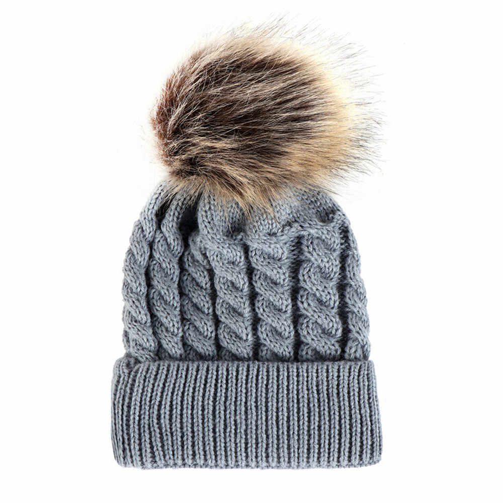 6bcc1c1e421e Detail Feedback Questions about 2018 Winter Hats For Kids Knit ...