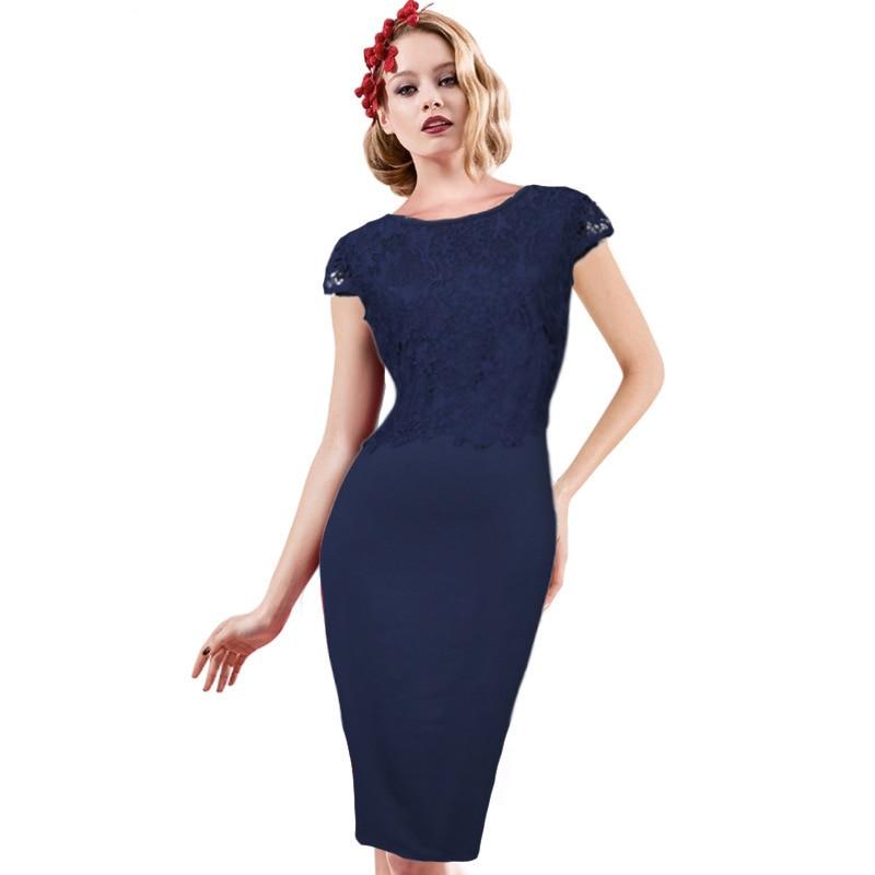 7a38c80693ec Renda Moda De Abiti Vestido Eleganti Patchwork Blu Di Mujer Sukienka Abito  Vestito Donne Hide Blue Estivo Delle Pizzo Muxu Aderente 80PXZnwONk