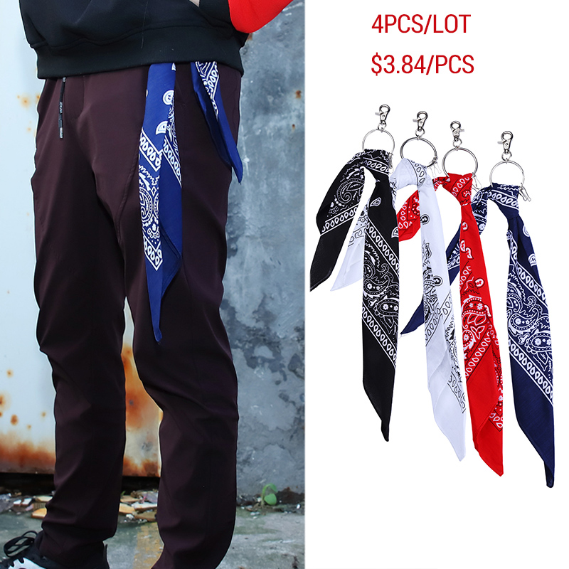 Bandana Square Scarf With Key Chain