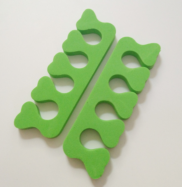 60pc * vert beauté ongles Art & pieds EVA mousse ongles Art outils doigt support ongles & orteils séparateurs manucure pédicure outils