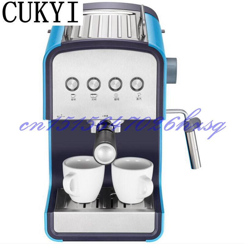 CUKYI Household semi-automatic Espresso coffee maker 5~10cups coffee maker tea machine 850W 220V Steam coffee maker italy espresso coffee machine semi automatic maker cup warming plate kitchen