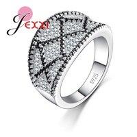 JEXXI Trendy Silver Mosaic Full Cubic Zirconia Oval Shape Earring Clip Jewelry Earrings Findings DIY Earring