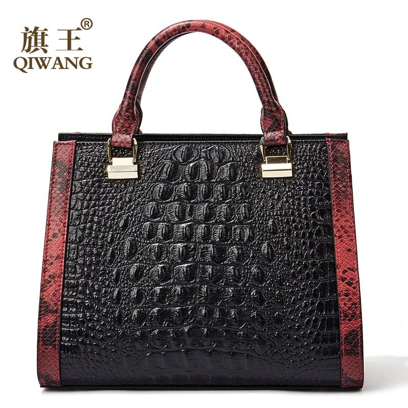Women Real Leather Handbag Genuine Leather Women Crocodile Handbag Luxury Brand Designer Bag for Richer Women FashionWomen Real Leather Handbag Genuine Leather Women Crocodile Handbag Luxury Brand Designer Bag for Richer Women Fashion