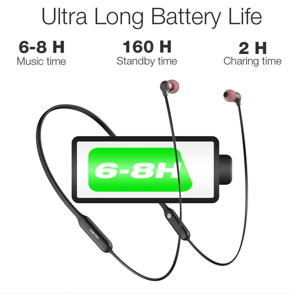 Dacom L06 dźwięku HD z pałąkiem na kark Bluetooth Bluetooth słuchawki bezprzewodowe sportowe bas w słuchawka zestaw słuchawkowy Stereo pąki
