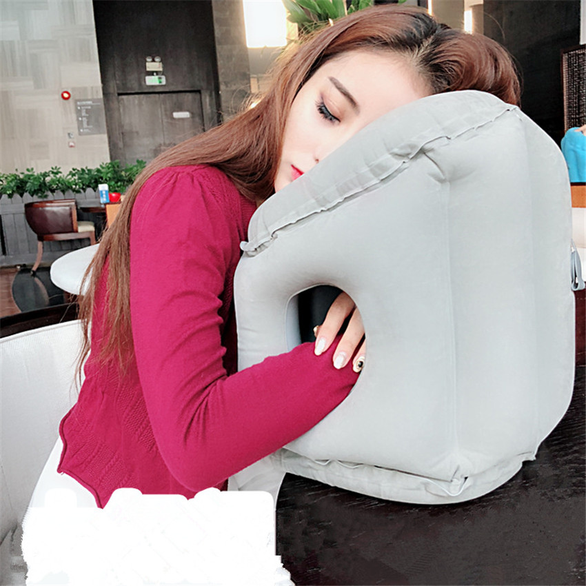 Fashiong Inflatable pillows air soft cushion trip portable innovative products body support Foldable blow neck Travel pillows