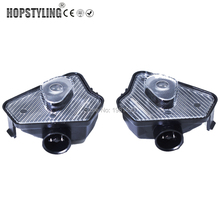 Hopstyling Car-styling 2pcs LED under mirror light For Mercedes Benz W204 W212 W176 W246 W219 W221 car puddle lamp with logo
