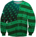United States Of Weed Crewneck O-Neck Pentagram Jumper Sweatshirt Fashion Clothing Outfits Sweats Jersey  Tops