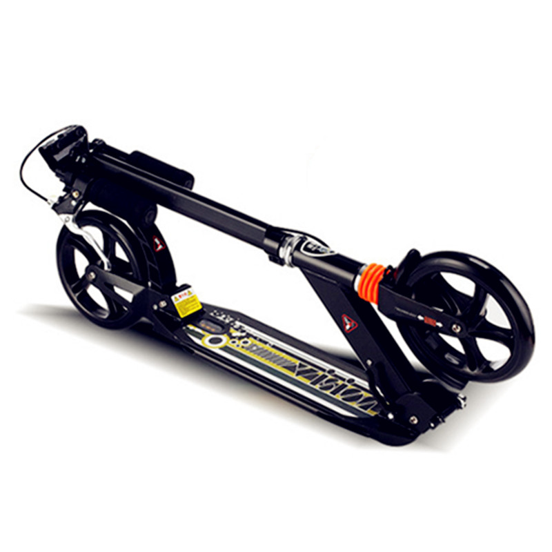 010310 Mise À Niveau Adulte Scooter En Aluminium Deux Grandes Roues Pliant Portable Scooters pour Adultes Enfants