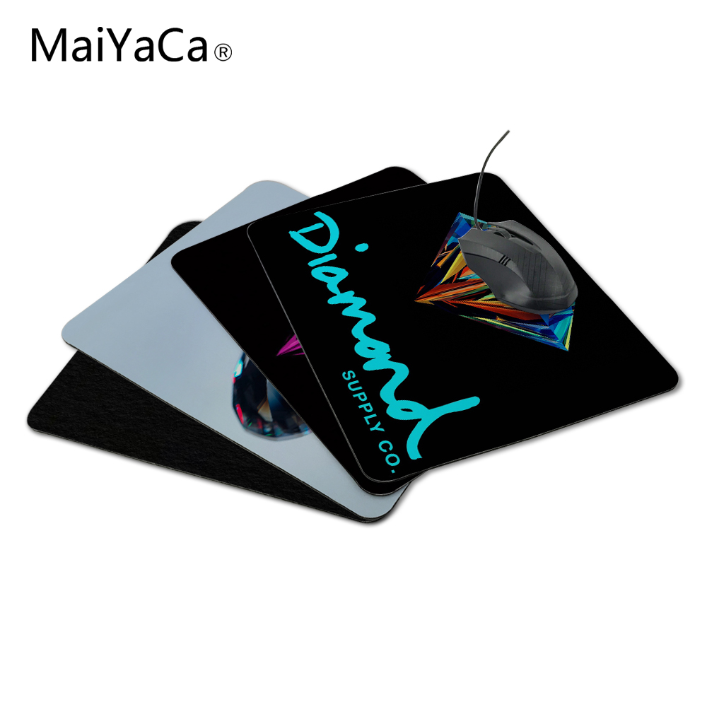 MaiYaCa Customized Luxury Printing 1 PC of Stylish Diamond Supply Teal Gamer Gaming Comfort Optical Laser Non Slip PC Mouse Pad