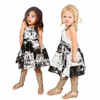 2017 Summer NEW Chinese Cultural Picture Elegant Grils Tutu Princess Dress Elsa Toddler Kids Baby Girls