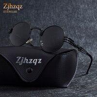 fe5ab0abe ... Gothic Steampunk Mirror Sunglasses Coating Black Lens Silver Blue  Mirrored Round Fashion Shield. ZJHZQZ Gothic Retro Vintage Steampunk óculos  de Sol ...