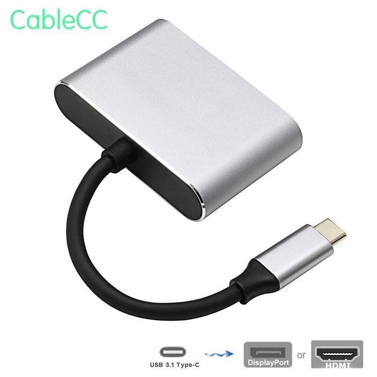 USB-C USB 3.1 Type C vers HDMI 4 K 30 HZ & DisplayPort adaptateur pour ordinateur portable et moniteur HDTV
