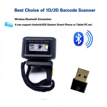 Eyoyo MJ-R30 Portable Bluetooth Ring 2D Scanner Barcode Reader For IOS Android Windows PDF417 DM QR Code 2D Wireless Scanner