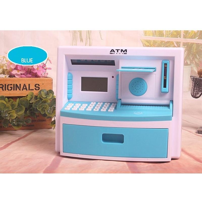 1 Piece/Lot Simulation Cash Register ATM Saving Money Bank Children Originality Creative Toy Kids Intelligence Gift