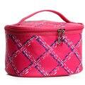 2017 Waterproof Makeup Bag Women Portable Travel Zipper Plaid Cosmetic Bag Fashion Wash Organizer Handbag Free Shipping P457