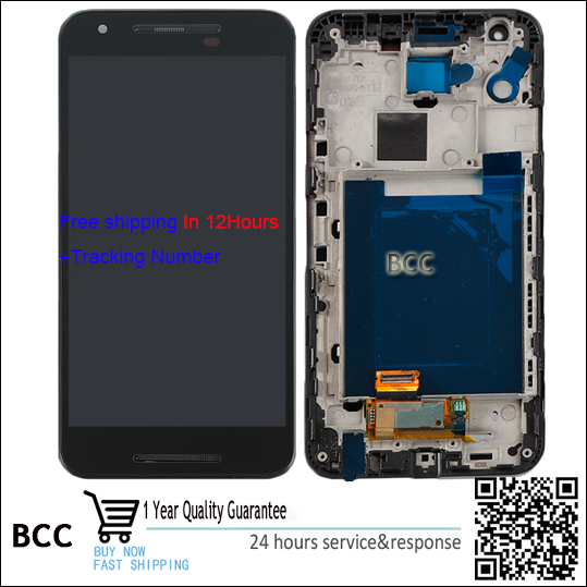 Best quality New Black Touch Screen Digitizer +LCD display with/no frame For LG Google Nexus 5X H790 H791 Test ok, in stock! new lcd touch screen digitizer with frame assembly for lg google nexus 5 d820 d821 free shipping