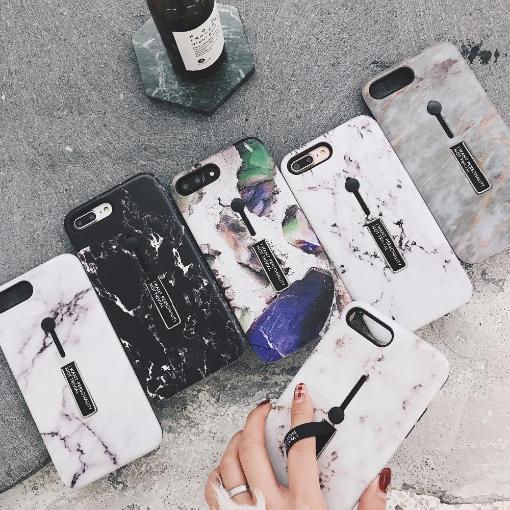 detailing e1489 4a09b US $9.5  Best Buy Fashion Kickstand Marble Design 2 in 1 TPU+PC Cell Phone  Case Mobile Cover for iPhone X 8 7 6 6s Plus-in Fitted Cases from ...