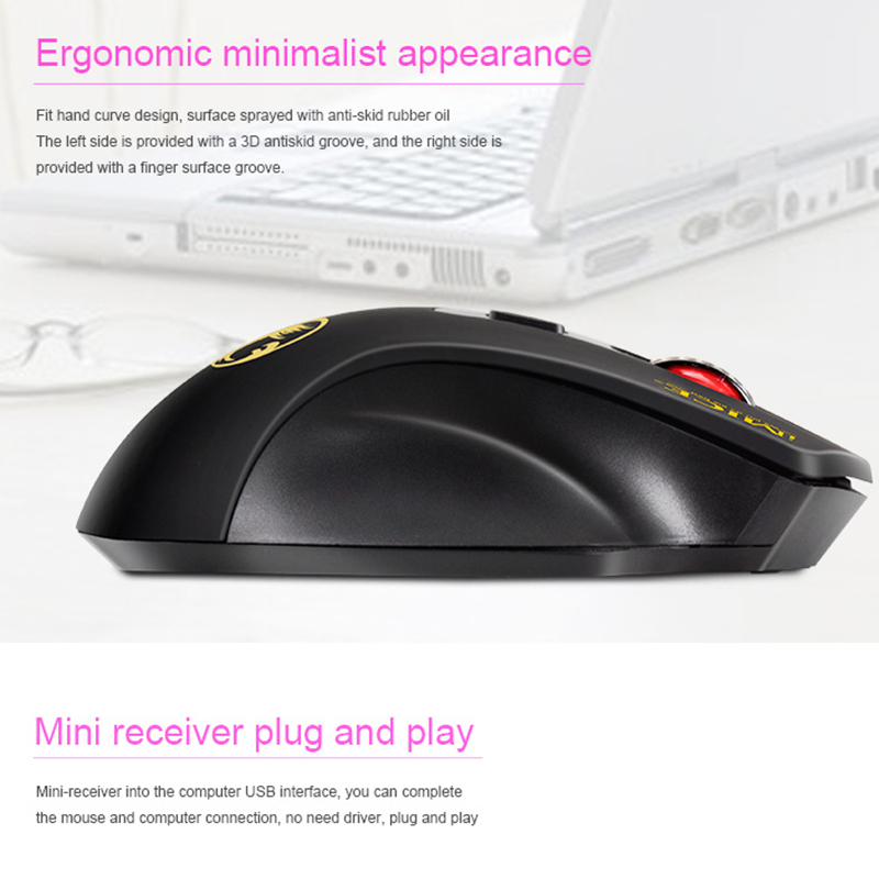 imice USB Wireless mouse 2.4GHz Ergonomic Mice For Laptop PC Mouse 2000DPI Adjustable USB 3.0 Receiver Optical Computer Mouse