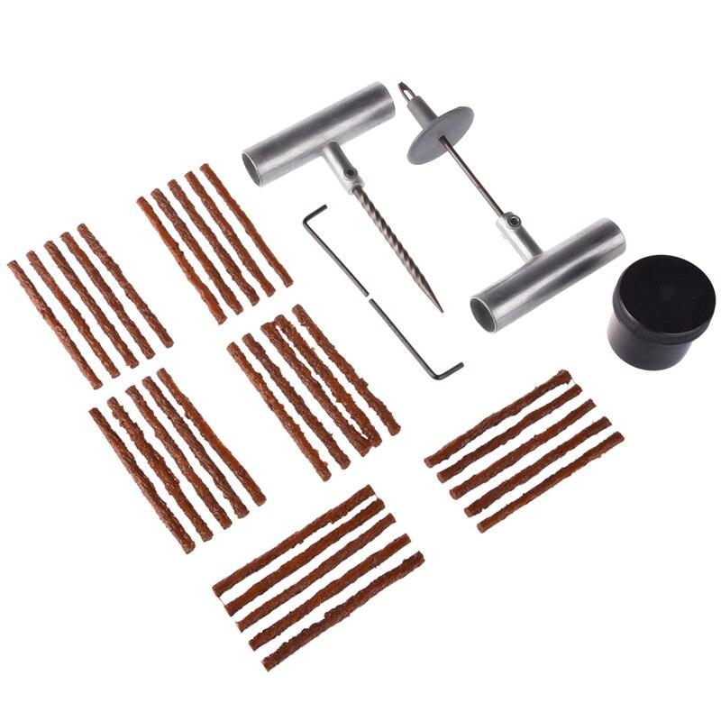 Цена за 35 шт. авто шины repair tool kit Т-образная ручка ремонт вставьте иглу Клей Газа смазки