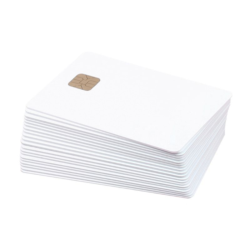 (10 Pcs/lot) SLE 4428 PVC Blank Card Contact IC Smart Card