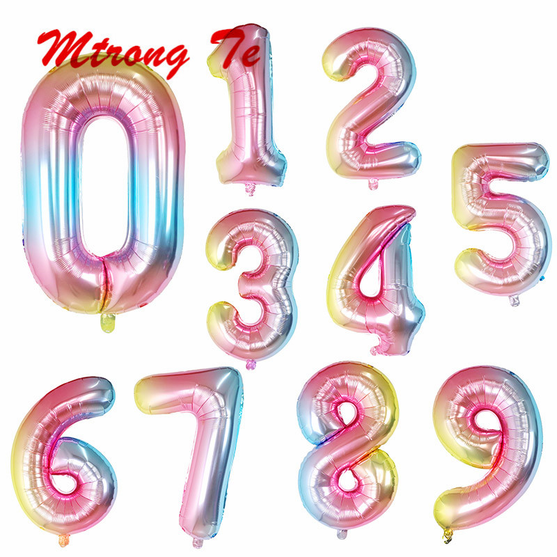 40cm 16inch celebration birthday Party balloons digital /& Letters Foil Balloons