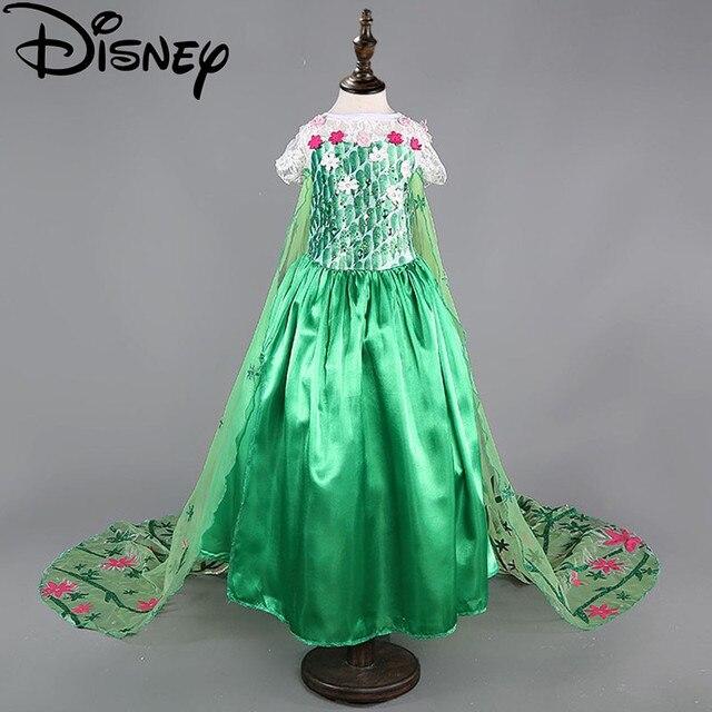 Disney Frozen Dress Demam Troll Elsa Kostum Bunga Anak Perempuan