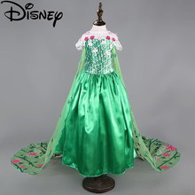 b3ccf56654 Disney mrożone sukienka gorączka trolle elsa kostiumy kwiat dziewczyny  dzieci cosplay party księżniczka anna congelados vestidos