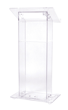 Floor Standing Acrylic Church Lectern reception desk Clear Acrylic Church Pulpit Church Acrylic Podium tanie tanio Meble komercyjne Meble biurowe 1150x600x400mm SHANGSHISHU Lectern-0030 Akrylowe