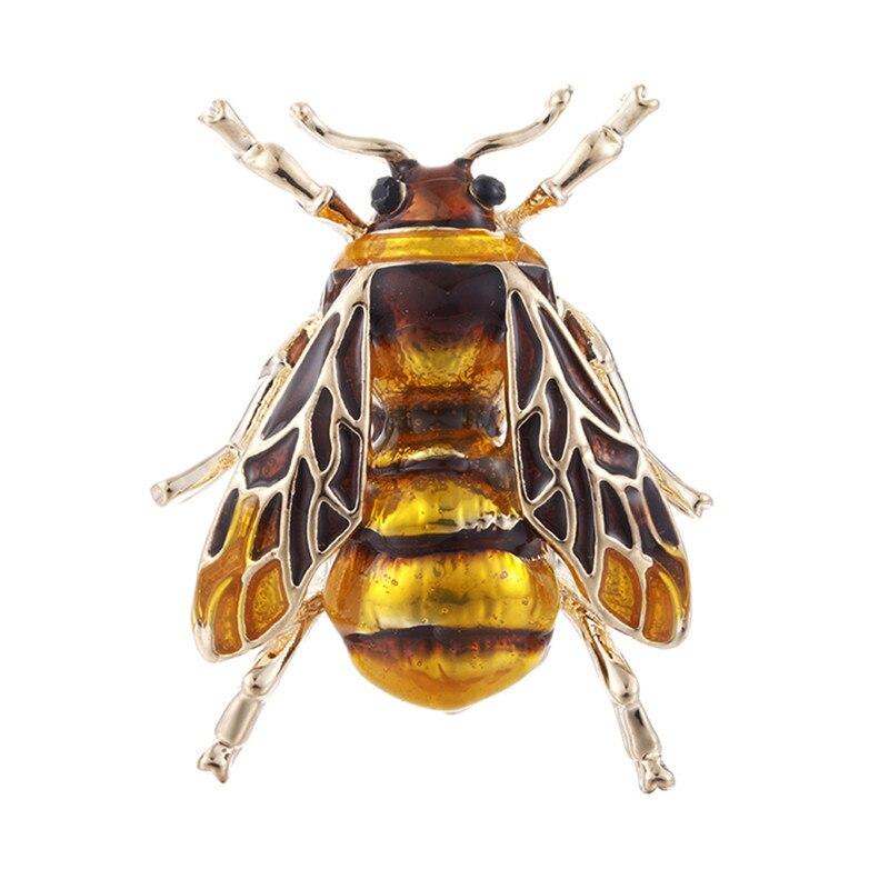 Пчела, жук, краб, муравьи, улитка, броши с птицами, Скорпион, стразы, Винтажные Украшения в виде животных, брошь - Окраска металла: 3